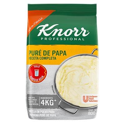 Knorr® Puré de Papa - Con Knorr® Puré de Papa sólo agrega agua y estará listo en un minuto.