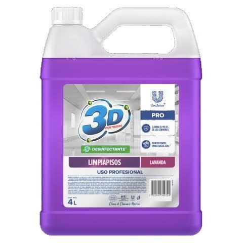Limpia Pisos 3D Multiusos Pro 4L - Limpia pisos desinfectante concentrado lavanda